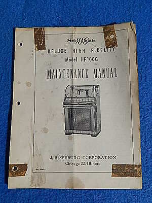 Seeburg HF100G Maintenance Manual # 406415