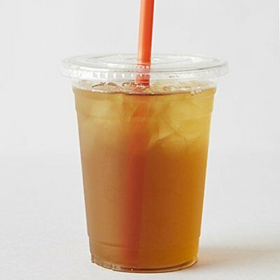 COMFY PACKAGE 50 Sets 16 oz. Plastic CRYSTAL CLEAR Cups with Dome Lids for Cold
