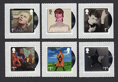 2017 DAVID BOWIE Stamp Set of Six Mint  SG 3933 - 3938