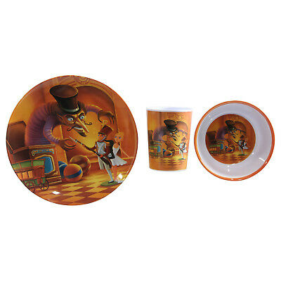 The Nutcracker Story 3pc Childrens Kids Melamine Plate Cup Bowl Tableware Set