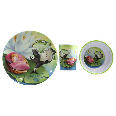 The Thumbelina Story 3pc Childrens Kids Melamine Plate Cup Bowl Tableware Set