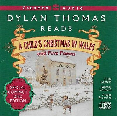 Dylan Thomas A CHILD'S CHRISTMAS IN WALES and 5 Poems - CD Audio Book