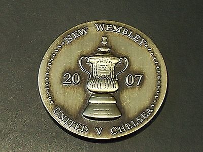 MANCHESTER UNITED v  CHELSEA - 2007 - NEW WEMBLEY MEDAL - FA CUP FINAL