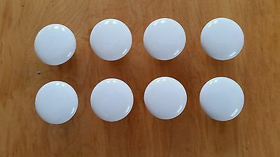 "8 Vintage Porcelain Ceramic Drawer Pulls 1 1/4"" Diameter"