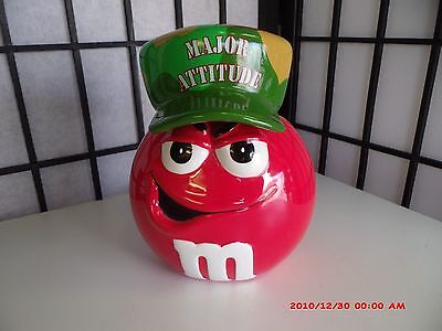 M&M Red Major Attitude Candy Dish Cookie Jar camouflage Lid