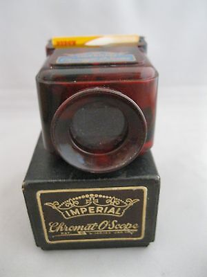 Vintage Imperial Chromat-O-Scope Slide Viewer~16Mm Slide~W/box~Brown