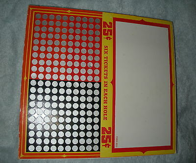 NA-084 - Punch Board Trade Stimulator Generic 25-Cents Unpunched
