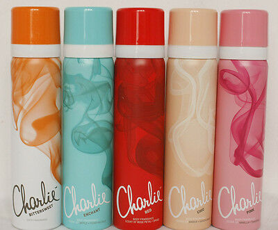 Charlie - Body Sprays( Various Fragrances ) Red/Enchant/Pink/Chic/Bittersweet