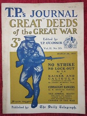 1915  WW1 Magazine TP's Journal Of Great Deeds The Great War March 20 us6