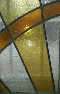 Antique Stained Glass Window in Old Sash