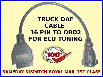 Daf Engine Tuning Chipping Remapping Cable 16 Pin To Obd2 Ecuflash