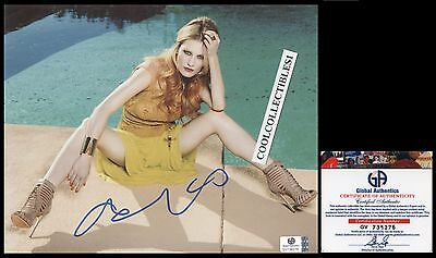 "Ashley Hinshaw In Person Signed 8X10 Color Photo Global Authentics 'ga"" Coa"
