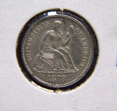 1878 Seated Liberty Dime***choice Uncirculated Condition***boo