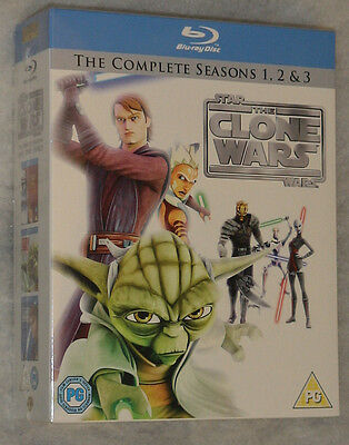Star Wars: The clone wars stagione 1,2,3 COMPLETO BLU-RAY COFANETTO -