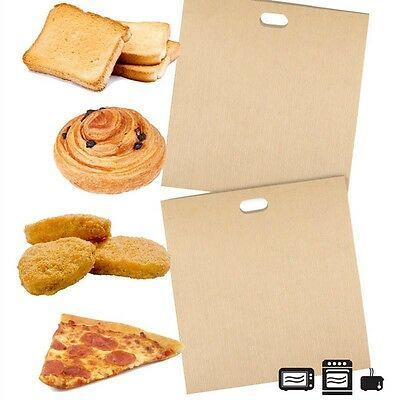 2X Useful Reusable Non Stick Toaster Bags Toastie Sandwich Bread Toast Pockets