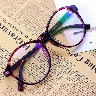Women Clear Transparent Optical Glasses Frame Eyeglasses With Clear Glass New