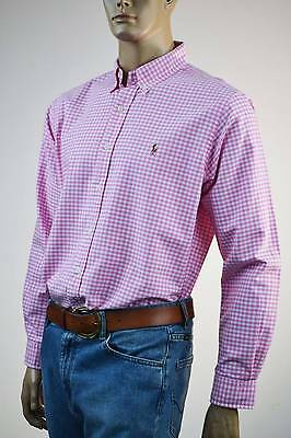 Ralph Lauren Classic Fit Pink & White Check Long Sleeve Shirt/ Pony-NWT