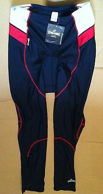 Spalding Long Bike Cycling Knicks Leggings Tights Pants XXL 102 2XL Red White