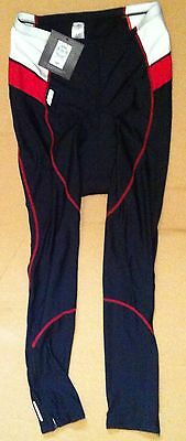 Spalding Long Bike Cycling Knicks Leggings Tights Pants XL 97  Black Red White