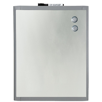 Quartet Stainless Steel Finish Magnetic Dry-Erase Board, 8.5 x 11 Inches, Graphi