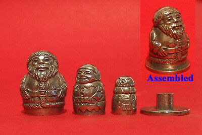 Santa Russian Doll Collectors Thimble Stacking Dolls