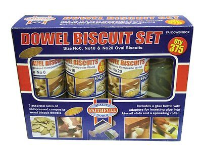 Faithfull Kit 375 No.0/ No.10/ No.20 Biscuit Wood New UK SELLER
