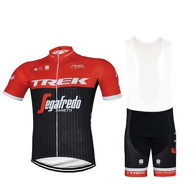TREK Red Cycling Clothing Jersey & Bib Shorts Kit Sets Coolmax