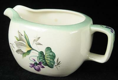 Midwinter 'Stylecraft' Purple Flowers Green Lining Milk Jug