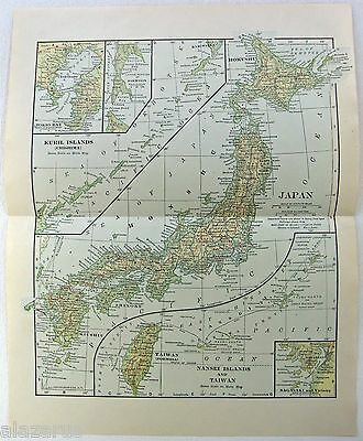 Original 1933 Map of Imperial Japan by L. L. Poates
