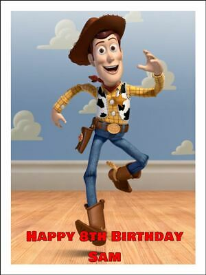 Toy Story Woody Edible Icing Image Cake Toppers 2 Sizes A4 & 19Cm