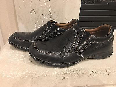 Born Black Leather Casual Dress Slip On Loafer Fashion Shoes Men's Size 10