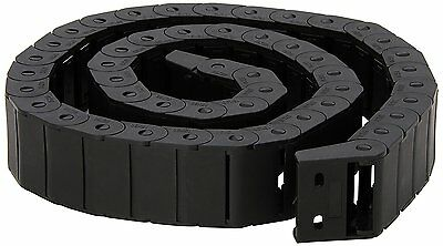 15mm x 30mm Black Plastic Semi Closed Drag Chain Cable Carrier 1M New