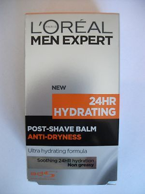 L'Oreal Men Expert 24HR Hydrating Post-Shave Balm 100ml New In Box FREE POST NEW