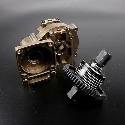 Center Differential Gear Set CNC Metal for 1/5 Losi 5ive T