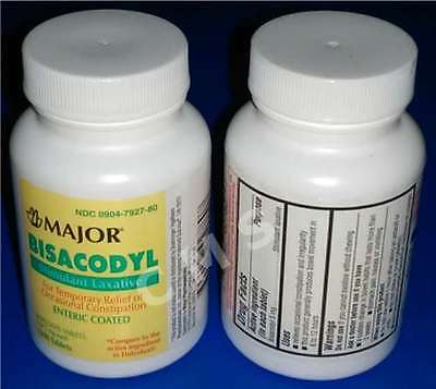 Major BISACODYL Stimulant Laxative Constipation Relief 5mg 1000 Tablets Enteric