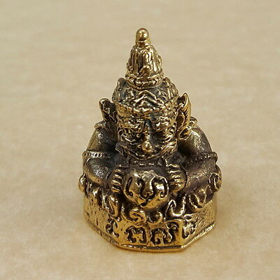 """PHRA RAHU"" God Of Wealth Property Rich Thai Magic Brass Amulet Talisman Luck"