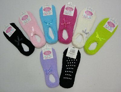 12 Pair Of Brand New Non Slip Size 9-11 Footies With Ribbon , Wholesale Lot !!!