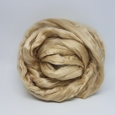 Natural Tussah Silk Top Spinning Fiber