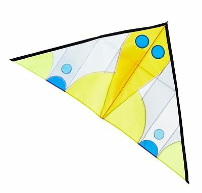 New Areaware Kite Colourful Triangular String Winder Carry Case Outdoor - Bird