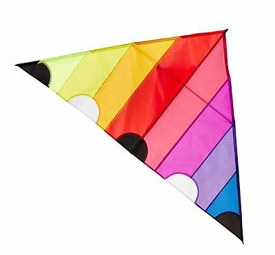 New Areaware Kite Colourful Triangular String Winder Carry Case Outdoor - Sunset