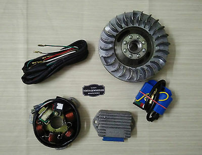 Lambretta Gp Electronic Kit. 12 Volt. Standard Flywheel. Cdi - Reg - Wire. New