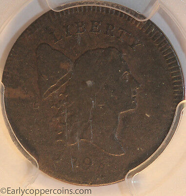 1795 C6a R2 Liberty Cap Half Cent PCGS F15 Ex-Mark Palmer Collection