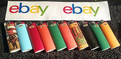 Lot of 10 EMPTY BIC Lighters Full Size