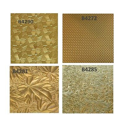 Jewelers BRASS Patterned Sheet 2.5 X 6 or 12 Inches Gauge 24 Half Hard Bare USA