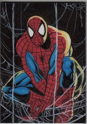 2016 Marvel Masterpieces Sketch SPIDER-MAN Matt Hebb (After Jusko MM 1992) WOW!
