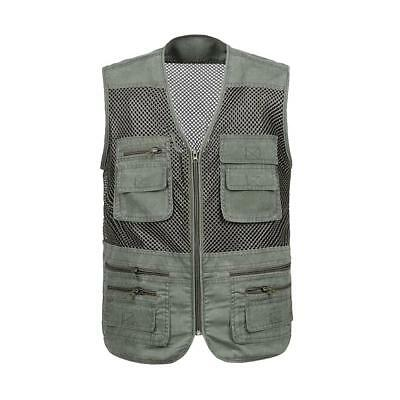 Men's Mesh Fishing Vest Breathable Quick-dry Hiking Traveller Casual Jacket