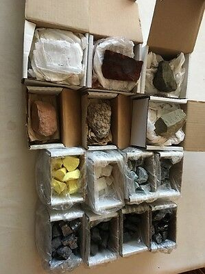 Lot of 14 Boxes of Rock/Mineral Specimens In The BOX - LOT 1