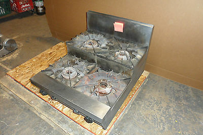 """Hd Stainless Steel Commercial """"vulcan"""" Counter Top N-Gas 4 Burner  Step Stove"""