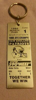New England Patriots 1986 Souvenir Promo Keychain 1985 Afc Champs Very Rare Look
