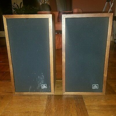 VINTAGE DLK Model 1 Speakers Wood Cabinets Audiophile